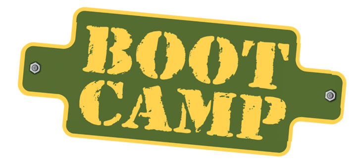 Military Boot Camp Clipart.