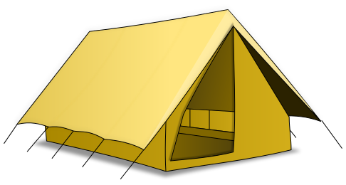 Army tent clipart.