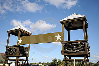 Military Camp Stock Photo.