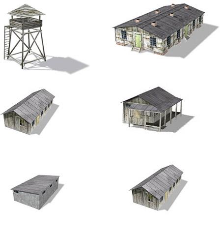 Military camp paper model «papercraft models papercraft models.