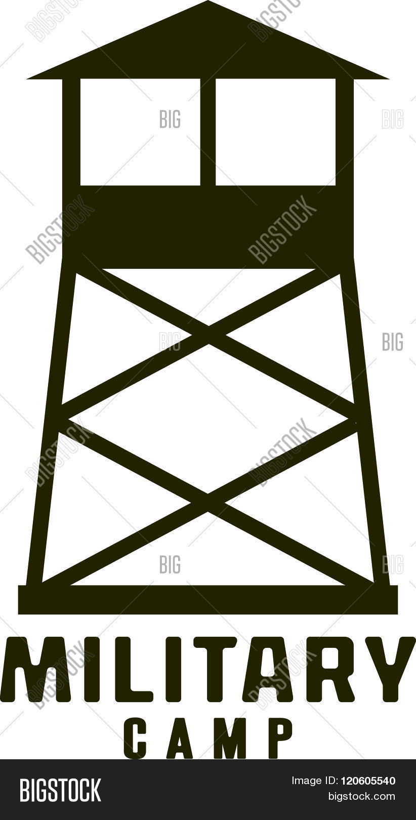 Watchtower Of Military Camp Icon . Concept Of Graphic Clipart Work.