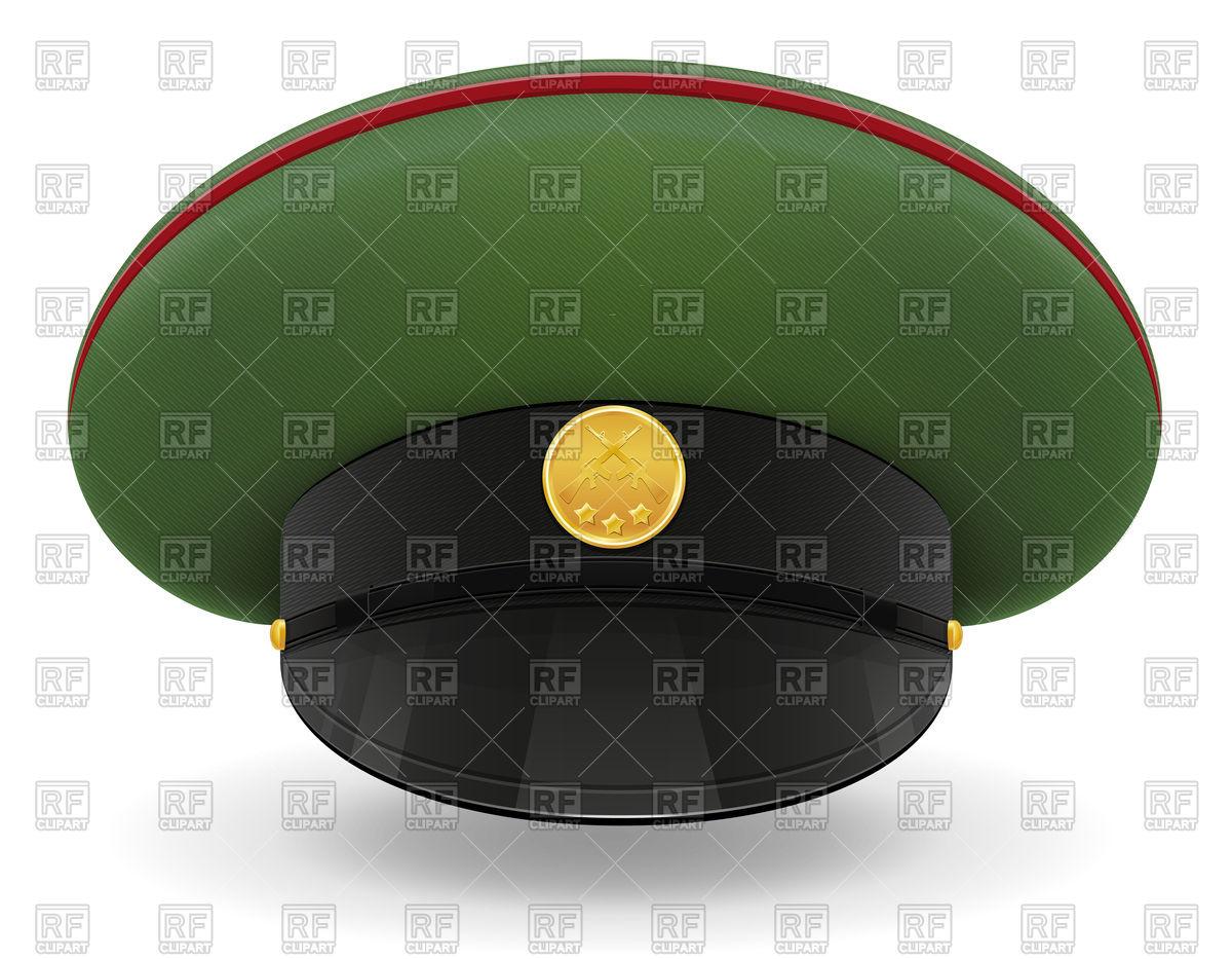 Professional uniform cap or military Vector Image #90263.