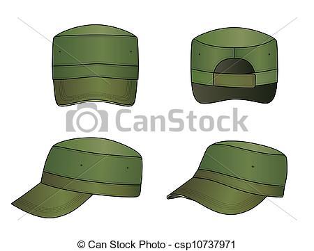 Military cap Clipart Vector Graphics. 996 Military cap EPS clip.