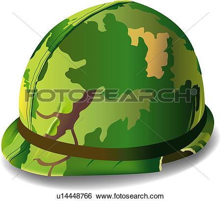 Clip Art of cap, cap, hat, general mechandise, military u14448766.