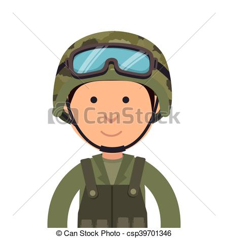 military soldier cartoon.