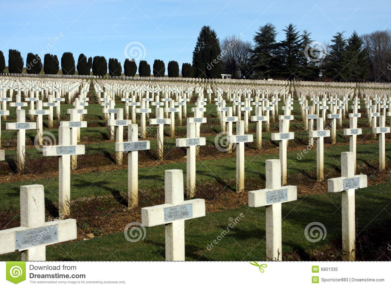 First World War Cemetery Verdun Royalty Free Stock Photo.