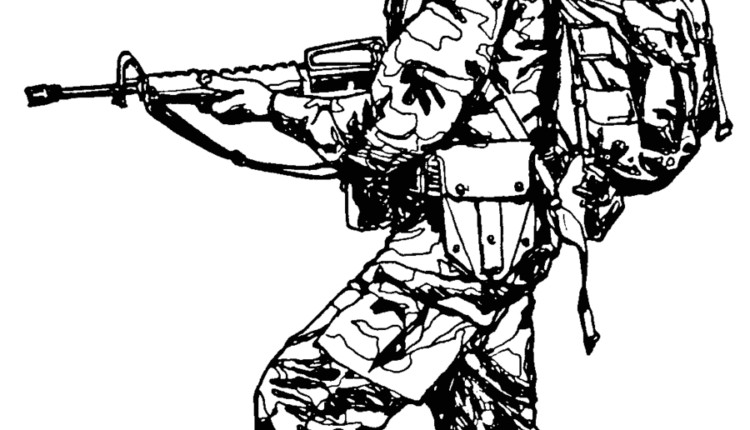 Military Clipart Black And White 5 1 750×430 Within Clip Art.