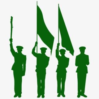 Military Color Guard Clipart , Transparent Cartoon, Free.