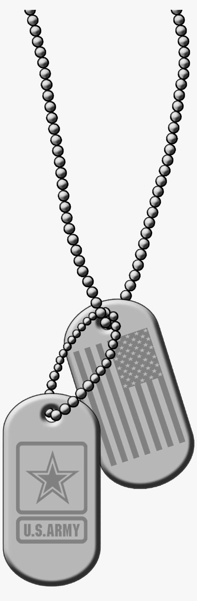 Id Dog Tags Silver Metal Png Clip Art Vector Us Army.