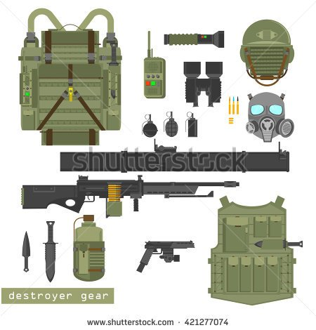 Military gear clipart images.
