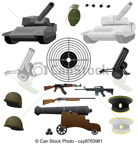 Vector Clip Art of The military set.