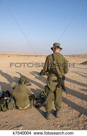 Stock Photo of Israeli Army military exercise k7540004.