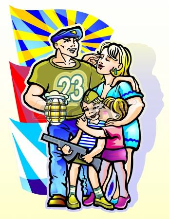 412 Military Family Stock Vector Illustration And Royalty Free.