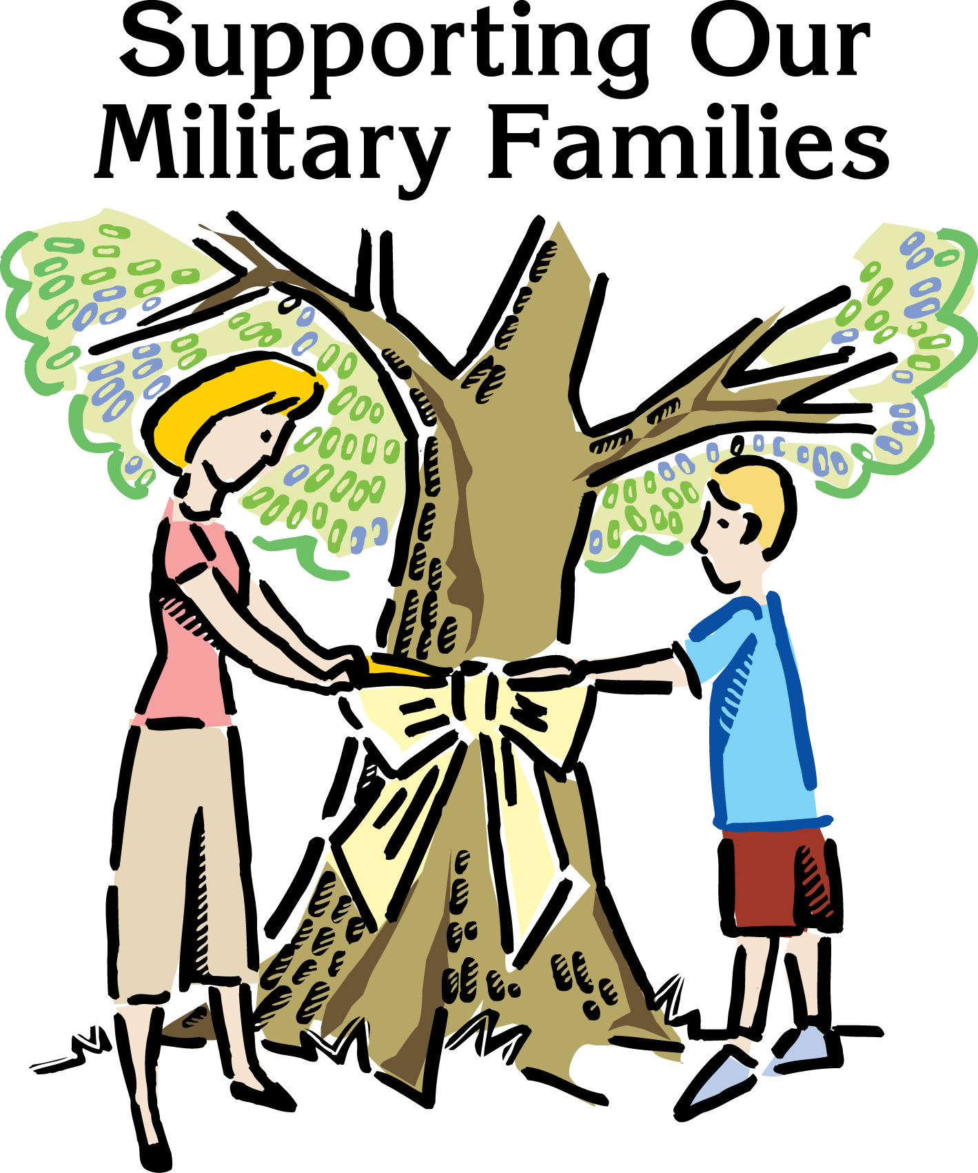 Military Families Clipart.