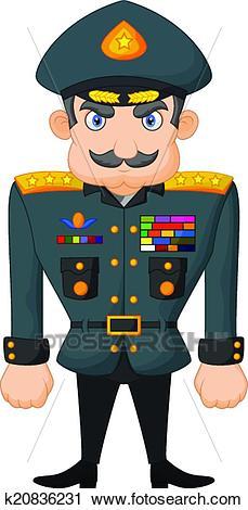 Cartoon military general Clipart.