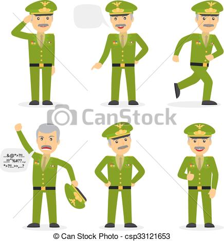 Military general character vector.
