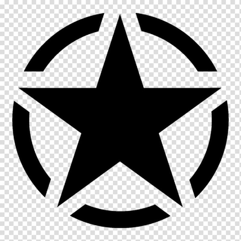 Black star logo, United States Army Decal Military, U.