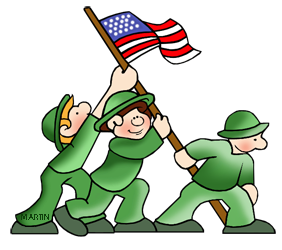 Free American Military History Clip Art by Phillip Martin.