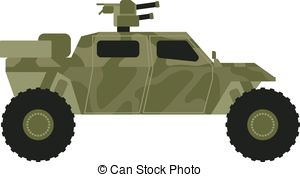 Vector Clip Art of army jeep.