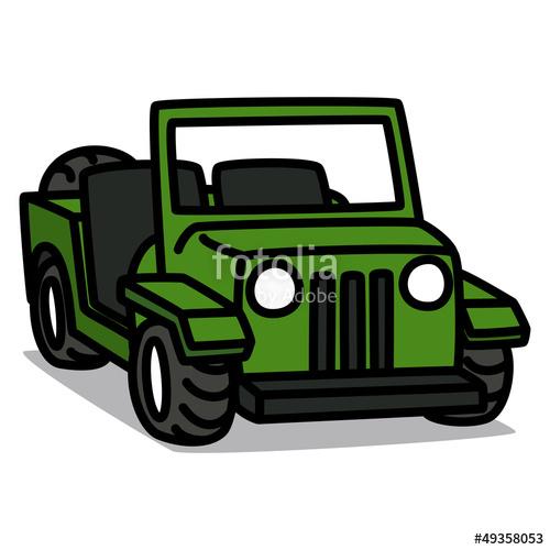 Cartoon Car 09 : Military Vehicle