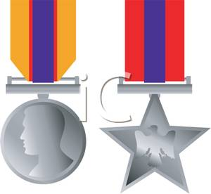 A Set of Military Medals.