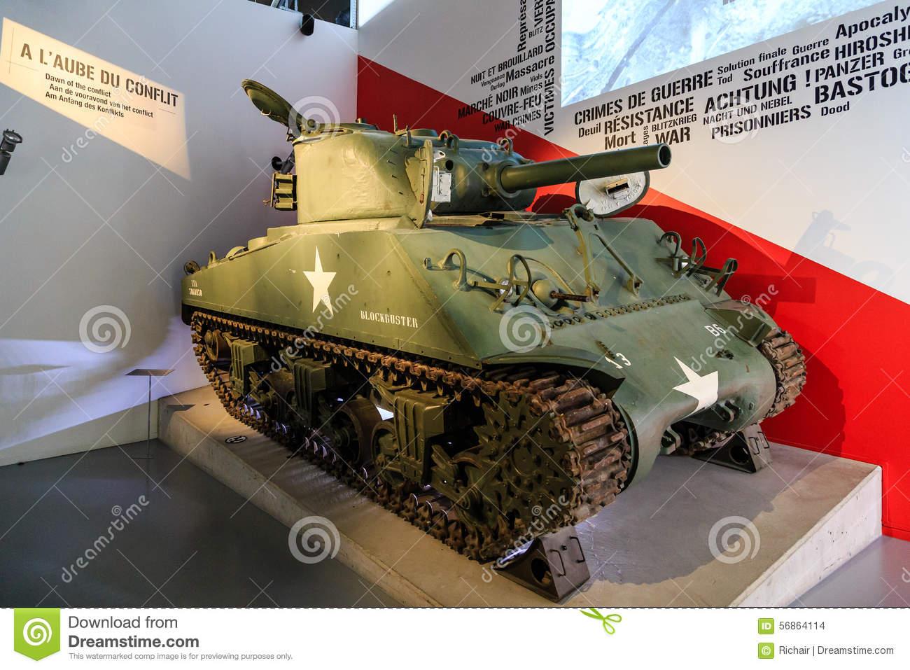 M4 Sherman Tank In Museum Editorial Stock Image.