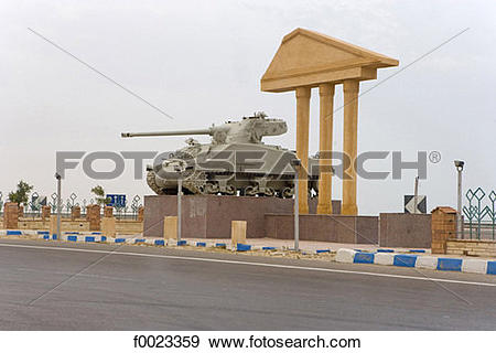 Stock Photograph of Egypt, El Alamein, military museum f0023359.