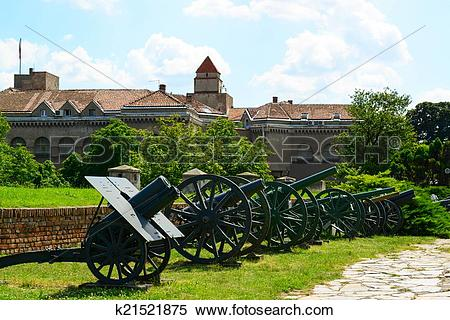 Stock Image of View of military Museum in fortress Kalemegdan in.