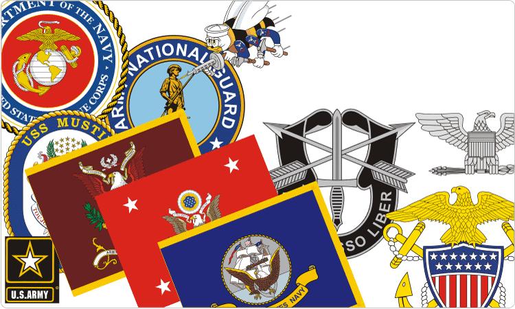 U.S. Military Insignia.