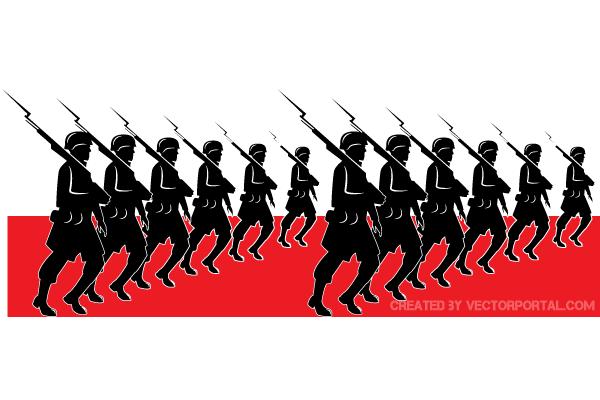 Military parade clipart #18