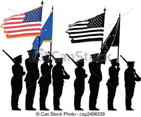 Honor Guard Parade Clipart.