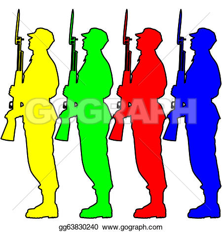 Military Parade Clip Art.