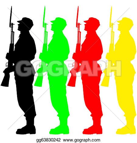 Military Parade Clip Art.