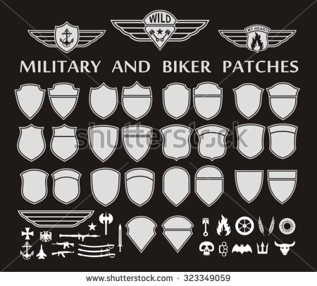 Military Patches Clipart.
