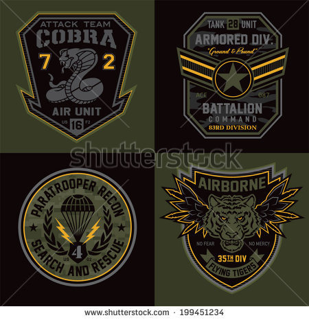 Military Patch Stock Images, Royalty.