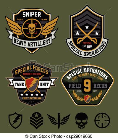 Military Patches Clipart Free.