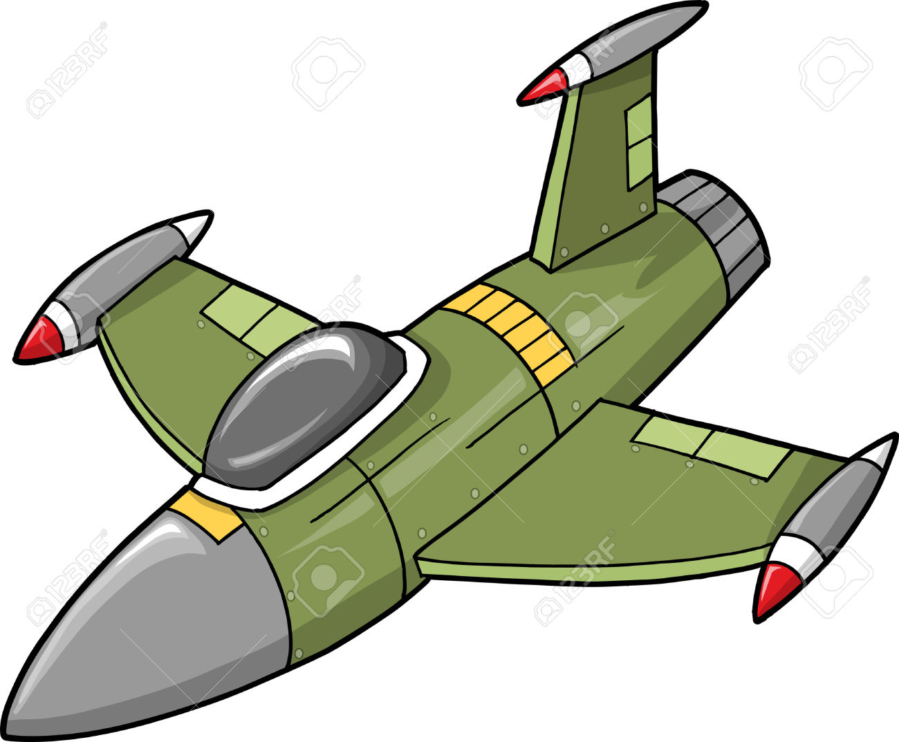 Cartoon Fighter Jet Clipart.