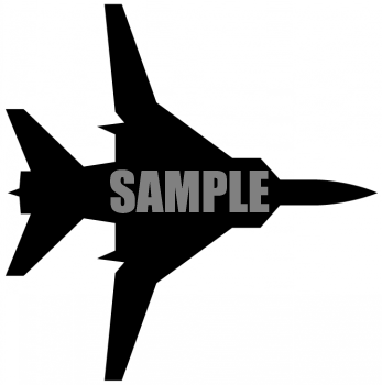 Silhouette of a Military Style Jet.