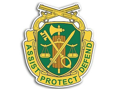 3x4 inch US MILITARY POLICE Insignia Assist Protect Defend Sticker.