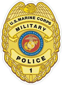 Details about USMC Marine Corps Military Police Badge Decal / Sticker.