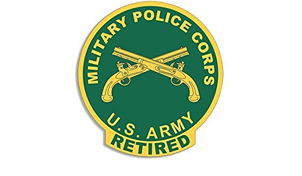 GHaynes Distributing US Military Police Corps RETIRED Seal.