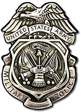 Army MP Silver Logo Shaped Sticker (us Military Police).