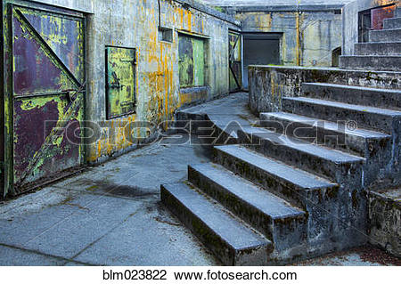 Stock Photo of An old military bunker near Port Townsend blm023822.