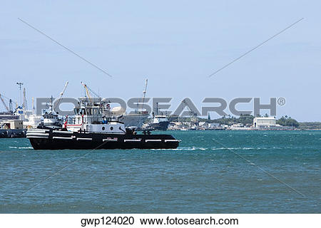 Stock Photography of Military ships at a commercial dock, Pearl.