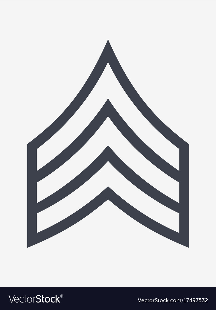 Military ranks and insignia stripes and chevrons.