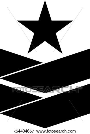 Military rank insignia Clip Art.