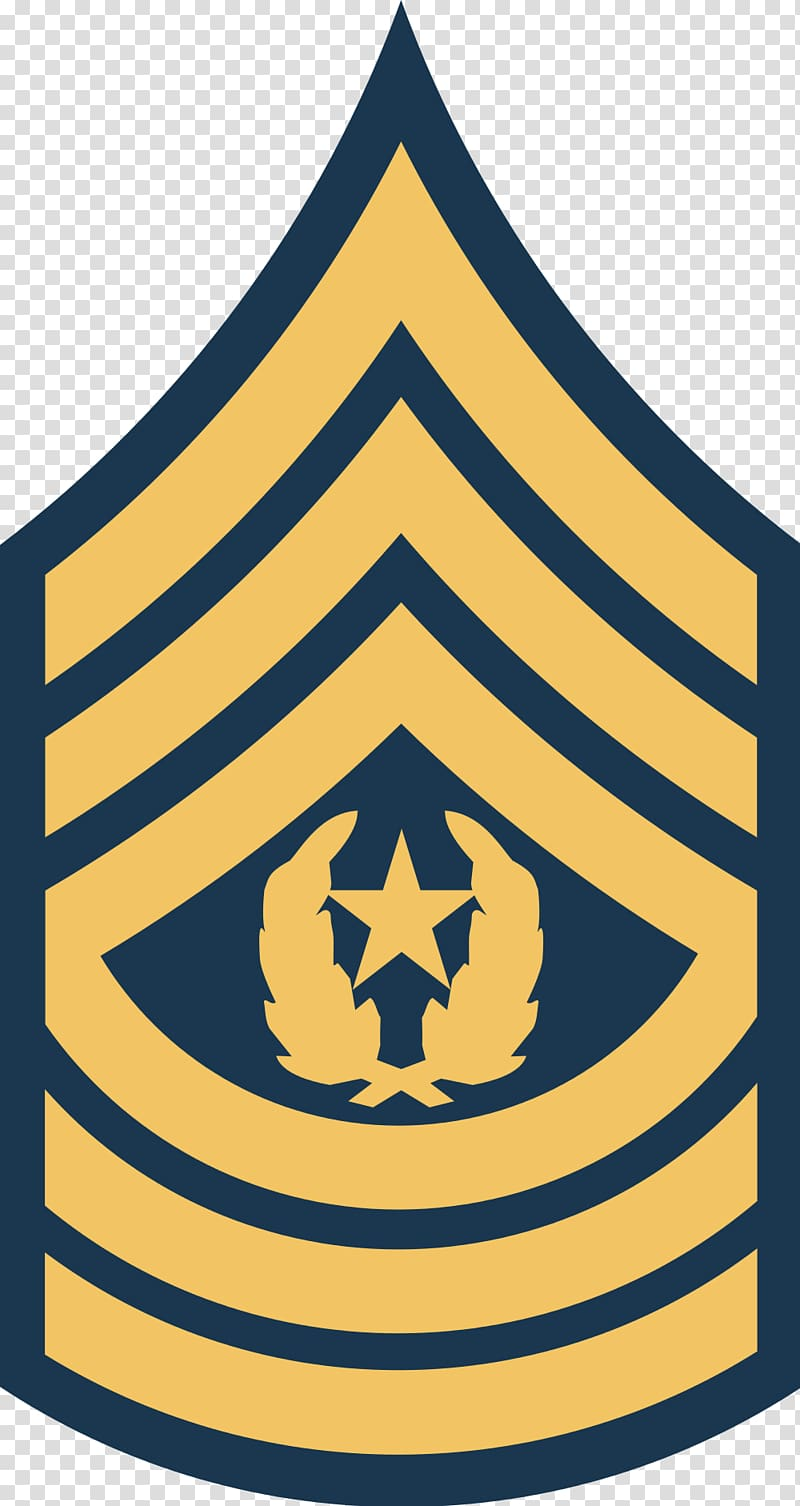 Sergeant Major of the Army Military rank, army transparent.