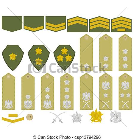 EPS Vectors of Syrian army insignia.