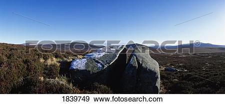 Stock Photograph of Co Wicklow, Ireland; Bogland Near Military.