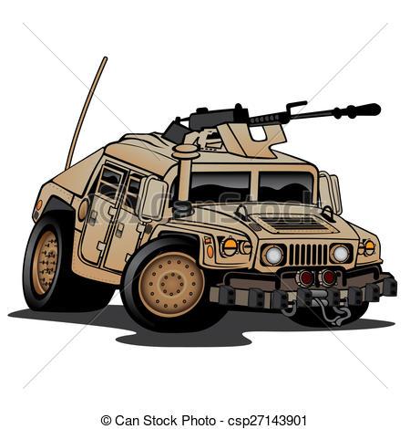 Stock Illustration of Military Truck Illustration.